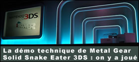 Dossier - Démo technique Metal Gear Solid Snake Eater 3DS : on y a joué !