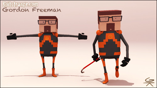 8 Bit Strange artwork Freeman