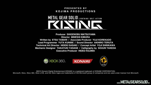 Metal Gear Solid Rising cr�dits