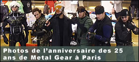 Photos de l'anniversaire des 25 ans de Metal Gear � Paris