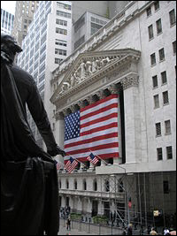 NYSE et la statue de George Washington