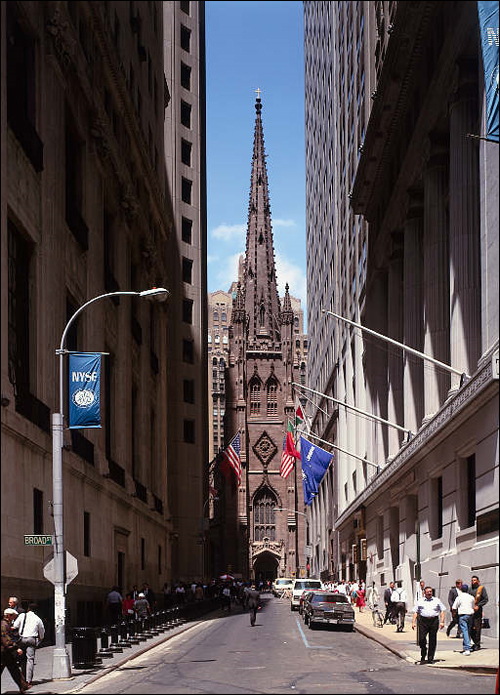 Wall Street et Trinity Church