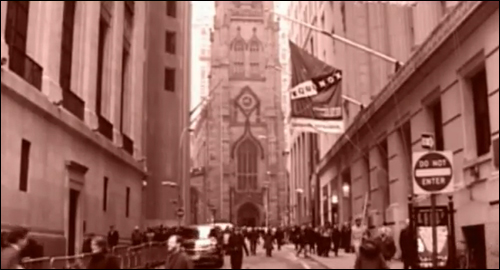 Wall Street et Trinity Church dans Metal Gear Solid 2