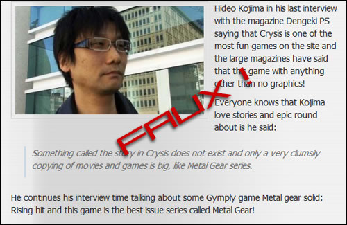 Article Bidon Hideo Kojima