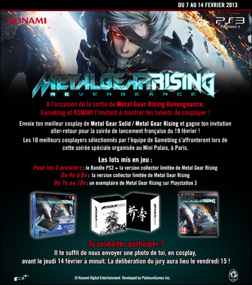 Concours cosplay Metal Gear Rising Revengeance