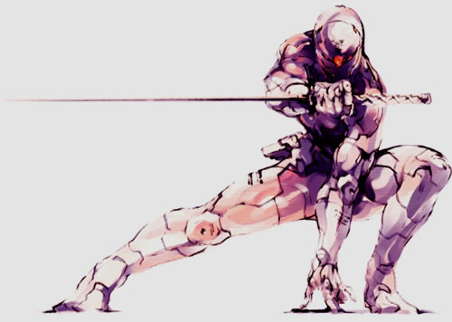 Gray Fox Cyborg Ninja Artwork Yoji Shinkawa