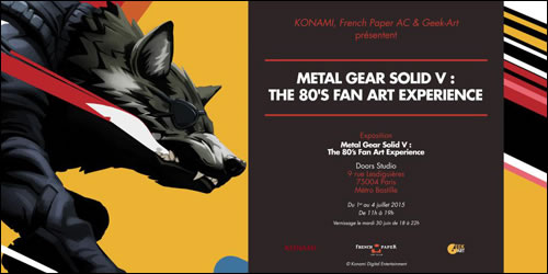 Une exposition 'Metal Gear Solid V : The 80's Fanart Experience' à Paris