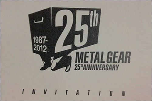 Invitation 25 ans Metal Gear Kojima Productions