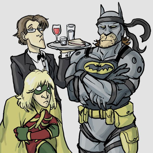 Metal Gear Solid Batman Raiden Otacon et Snake