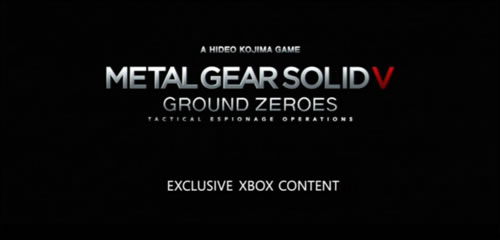 Metal Gear Solid V Ground Zeroes : Du contenu exclusif sur Xbox One et Xbox 360