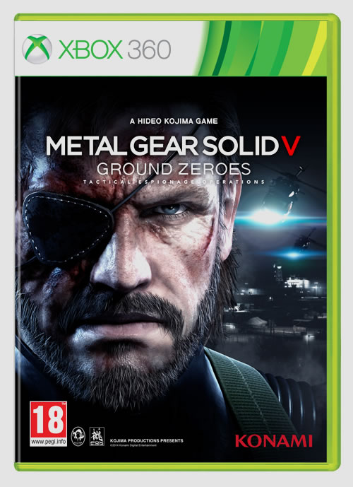 La jaquette européenne de Metal Gear Solid V : Ground Zeroes