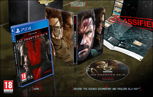 Le contenu du Blu-ray collector de Metal Gear Solid V : The Phantom Pain détaillé par le BBFC