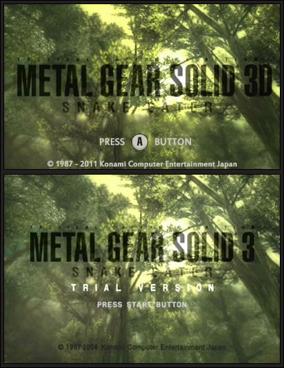 Metal Gear Solid Snake Eater 3D poisson avril