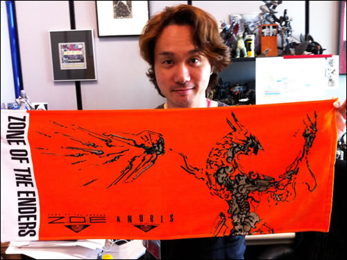 Yoji Shinkawa et serviette Zone of the Enders