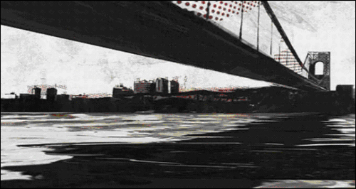 Le Verrazano-Narrows Bridge dans Metal Gear Solid 2 Bande Dessin�e Ashley Wood