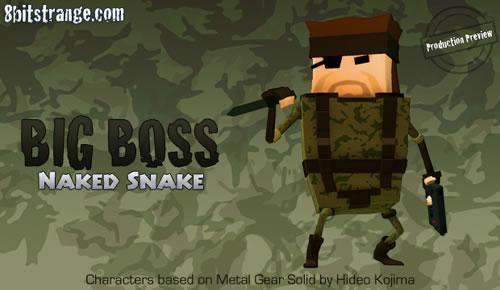 Big Boss aka Solid Dady dans 8 Bit Strange