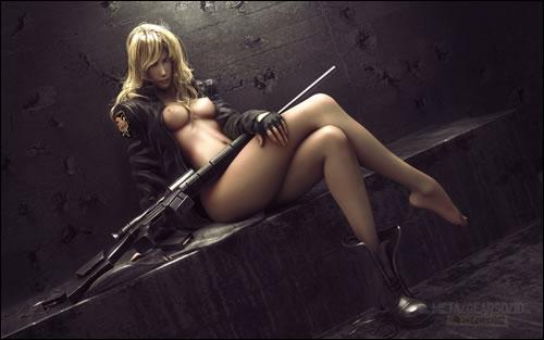 Fanart de Sniper Wolf en 3D