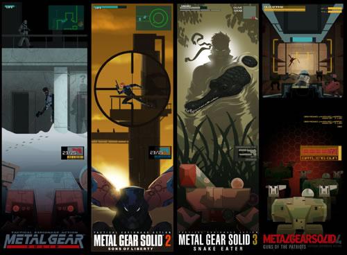 Fanart Metal Gear Solid se plie en quatre