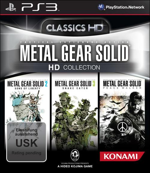 Jaquette européenne de Metal Gear Solid HD Collection sur PS3