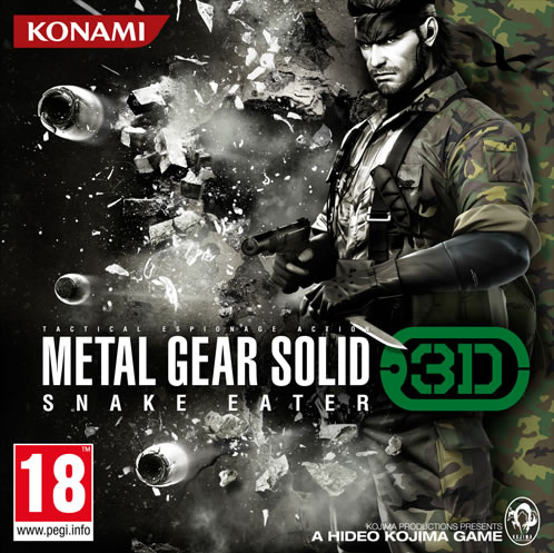 Jaquette Metal Gear Solid Snake Eater 3D