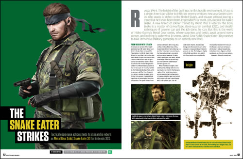 Metal Gear Solid Snake Eater 3D Nintendo Power