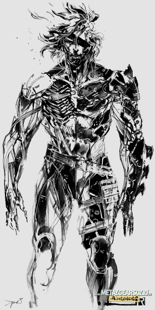 Artwork HD de Raiden dans Metal Gear Rising Revengeance