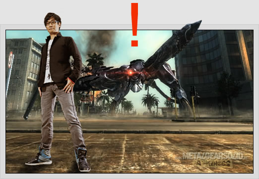 Hideo Kojima et Ray Metal Gear Rising Revengeance