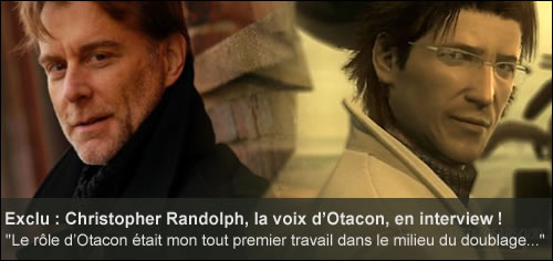 Interview de Christopher Randolph, la voix d'Otacon
