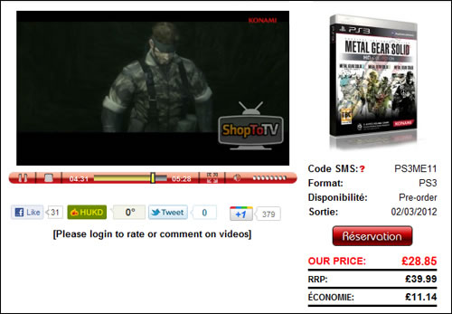 Metal Gear Solid HD collection retardé