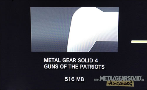 Installation patch japonais Metal Gear Solid 4 Guns of the Patriots
