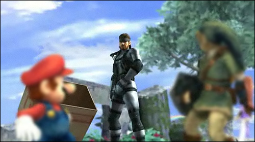 Solid Snake dans Super Smash Bros Brawl